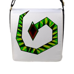 Decorative Snake Flap Messenger Bag (l)  by Valentinaart