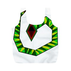 Decorative Snake Full Print Recycle Bags (m)  by Valentinaart