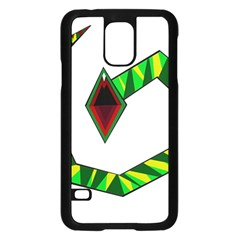 Decorative Snake Samsung Galaxy S5 Case (black) by Valentinaart