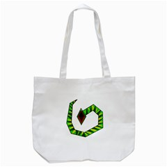 Decorative Snake Tote Bag (white) by Valentinaart
