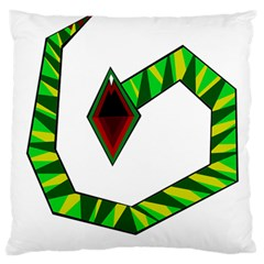 Decorative Snake Large Flano Cushion Case (two Sides) by Valentinaart
