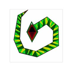 Decorative Snake Small Satin Scarf (square) by Valentinaart