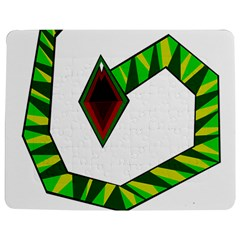 Decorative Snake Jigsaw Puzzle Photo Stand (rectangular) by Valentinaart