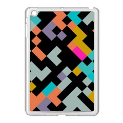 Connected Shapes                                                                             apple Ipad Mini Case (white) by LalyLauraFLM