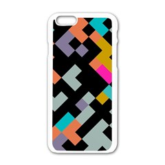 Connected Shapes                                                                             			apple Iphone 6/6s White Enamel Case by LalyLauraFLM