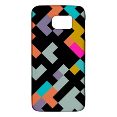 Connected Shapes                                                                             			samsung Galaxy S6 Hardshell Case by LalyLauraFLM