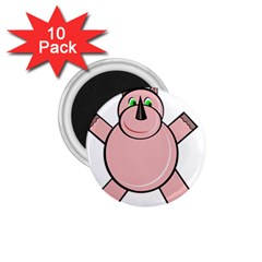 Pink Rhino 1 75  Magnets (10 Pack)  by Valentinaart