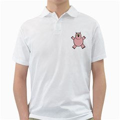 Pink Rhino Golf Shirts by Valentinaart