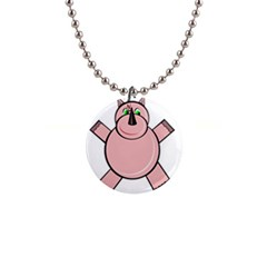 Pink Rhino Button Necklaces by Valentinaart