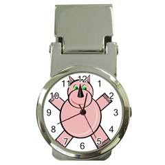 Pink Rhino Money Clip Watches by Valentinaart