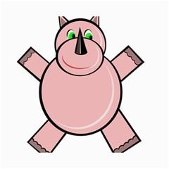 Pink Rhino Canvas 16  X 20   by Valentinaart