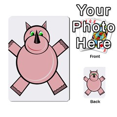 Pink Rhino Multi Purpose Cards (rectangle)  by Valentinaart