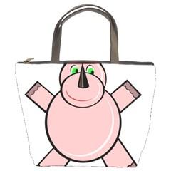 Pink Rhino Bucket Bags by Valentinaart