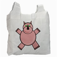Pink Rhino Recycle Bag (one Side) by Valentinaart