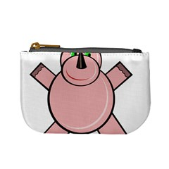 Pink Rhino Mini Coin Purses by Valentinaart