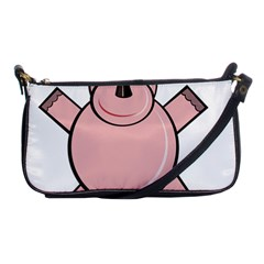 Pink Rhino Shoulder Clutch Bags by Valentinaart