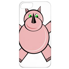 Pink Rhino Apple Iphone 5 Classic Hardshell Case by Valentinaart