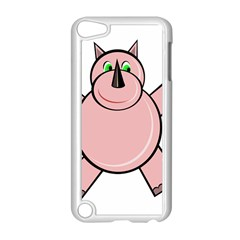 Pink Rhino Apple Ipod Touch 5 Case (white) by Valentinaart