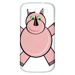 Pink Rhino Samsung Galaxy S3 S Iii Classic Hardshell Back Case by Valentinaart