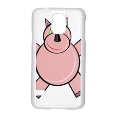 Pink Rhino Samsung Galaxy S5 Case (white) by Valentinaart