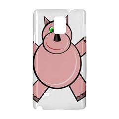 Pink Rhino Samsung Galaxy Note 4 Hardshell Case by Valentinaart