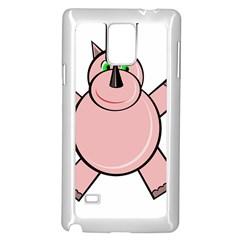 Pink Rhino Samsung Galaxy Note 4 Case (white) by Valentinaart