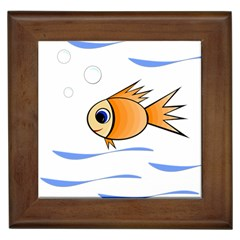 Cute Fish Framed Tiles by Valentinaart