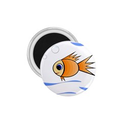 Cute Fish 1 75  Magnets by Valentinaart