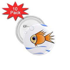 Cute Fish 1 75  Buttons (10 Pack) by Valentinaart