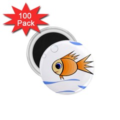 Cute Fish 1 75  Magnets (100 Pack)  by Valentinaart