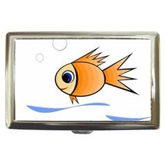 Cute Fish Cigarette Money Cases by Valentinaart