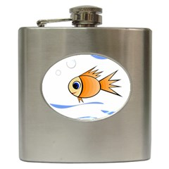 Cute Fish Hip Flask (6 Oz) by Valentinaart
