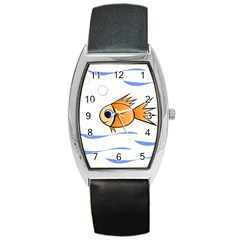 Cute Fish Barrel Style Metal Watch by Valentinaart