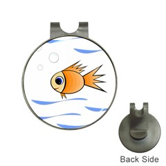 Cute Fish Hat Clips With Golf Markers by Valentinaart