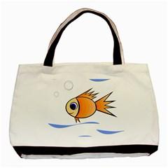 Cute Fish Basic Tote Bag by Valentinaart