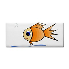 Cute Fish Hand Towel by Valentinaart