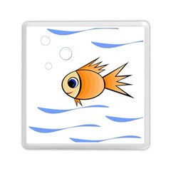 Cute Fish Memory Card Reader (square)  by Valentinaart