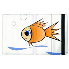Cute Fish Apple Ipad 3/4 Flip Case by Valentinaart