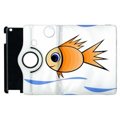 Cute Fish Apple Ipad 2 Flip 360 Case by Valentinaart