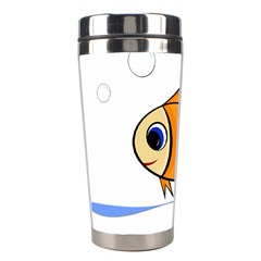Cute Fish Stainless Steel Travel Tumblers by Valentinaart