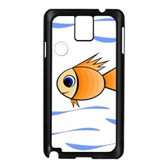 Cute Fish Samsung Galaxy Note 3 N9005 Case (black) by Valentinaart