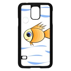 Cute Fish Samsung Galaxy S5 Case (black) by Valentinaart