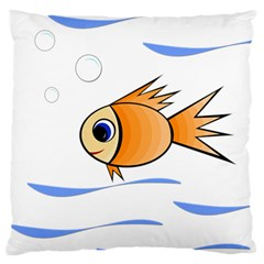 Cute Fish Standard Flano Cushion Case (one Side) by Valentinaart