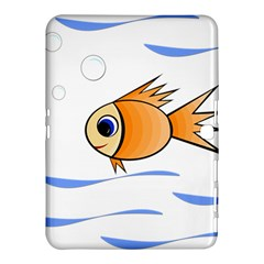 Cute Fish Samsung Galaxy Tab 4 (10 1 ) Hardshell Case  by Valentinaart
