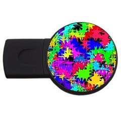 Colorful Shapes                                                                             			usb Flash Drive Round (2 Gb) by LalyLauraFLM