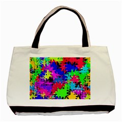 Colorful Shapes                                                                             basic Tote Bag by LalyLauraFLM