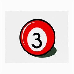 Billiard Ball Number 3 Small Glasses Cloth by Valentinaart