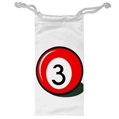 Billiard Ball Number 3 Jewelry Bags by Valentinaart