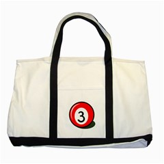 Billiard Ball Number 3 Two Tone Tote Bag by Valentinaart