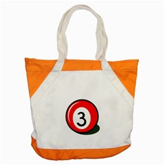 Billiard Ball Number 3 Accent Tote Bag by Valentinaart